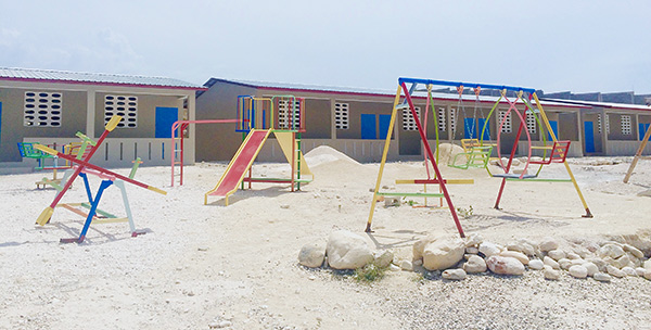 Locally-built playground equipment was purchased for the 2015-2016 school year