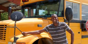 Pele, the happiest bus driver