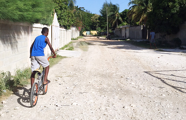 Adriano on his bike