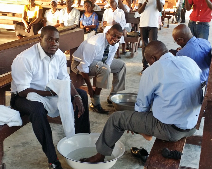 pastors washing feet